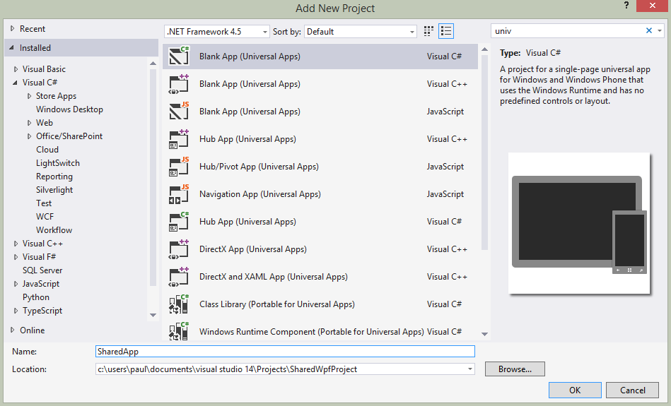 Creating a Shared Project in WPF - The Long Walk