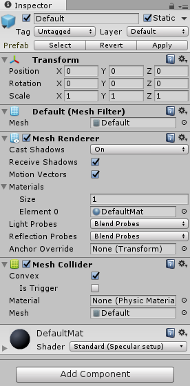 Mesh Colliders in Unity - The Long Walk