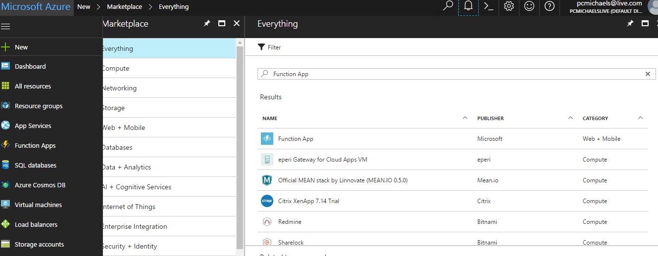 Using Azure Functions to Send an E-mail Alert from a Service