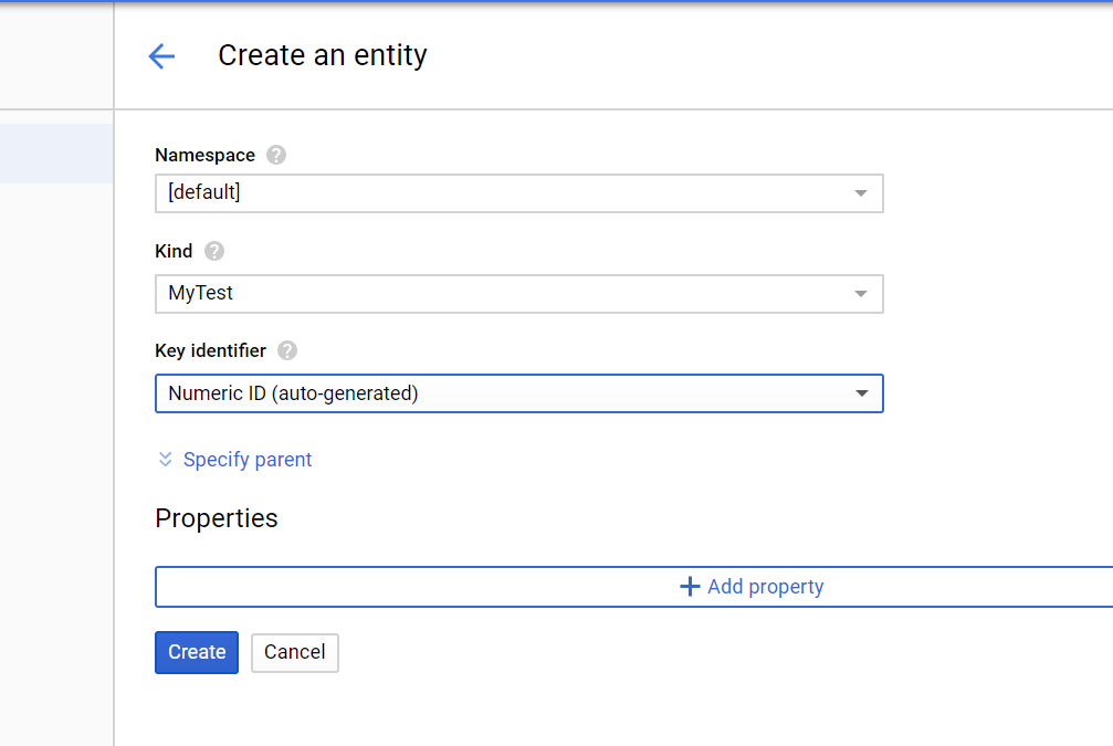 Google Cloud Datastore - Setting up a new Datastore and